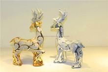 Christmas home decoration ceramic reindeer artwork