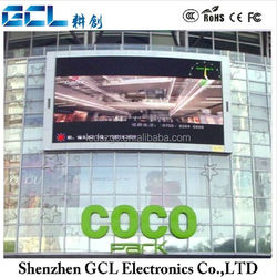 Outdoor Full color with steel cabinets,fixed installation P16 outdoor led advertising screen led display