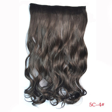 120G Woman Curly Clip In Hair Extension 29 Colors One Piece For Full Head Long Wavy Curly Hair Extension Hairpieces Hairdo