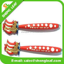 New design rubber customized logo ball point pen