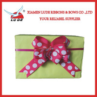 2015 hot printed grosgrain pull ribbon bow for packing
