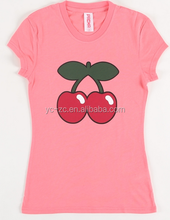 New design 100% Cotton Slim Fit t shirt printing machine for girls
