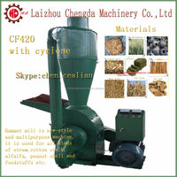 high efficiency factory supply cow cattle horse camel feed hammer mill with cyclone