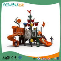 FEIYOU Educational Garden Toys Plastic Slide Structure Type Plastic Swing And Slide Outdoor Playground