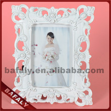shabby chic picture frames wholesale, flower resin frames photo, square romantic wedding home decor