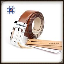 Brown Genuine Men's Belt with Clip removable Buckle Zinc Alloy