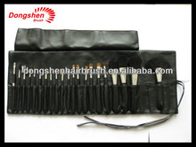 best selling chinese makeup brush set makeup case,21 piece natural hair make up brush cosmetics bag