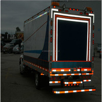 """Conspicuity Tape / DOT Reflective Tape 2"""" x 150' Red/White"""