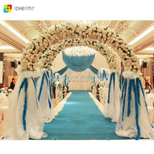 Church Wedding Gate and Stage Backdrop Curtain Flower Decoration,wedding pipe and drape