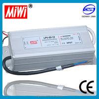 LPV-50 12V dc 2.5A Waterproof Switching Power Supply for Led srtip, 12 volt transformer power supply 220v