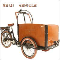 CE Holland bakfiets 3 wheel electric cargo bicycle rickshaw scooter price china