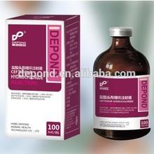 Depond ceftiofur clorhidrato 5% inyección de ganado de la medicina