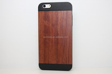 OEM Welcome Paypal Accepted , New Arrival Anti-shock TPU+PC Wooden Case for iPhone 6 Rosewood Case