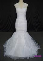 2015 new arrival women bottom tulle mermaid bling wedding dresses