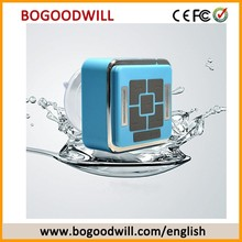 Rechargeable Waterproof Bluetooth Speaker Cube Shape With LED Light
