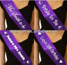 Fashion satin sash wedding sash