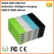 60W 5V 12A 6 ports USB desktop intelligent charger for all families