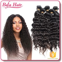 hot product top grade weave virgin brazilian hair/french curl braiding remy hair extensions/fake colored hair extensions