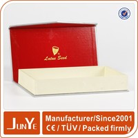 White logo hot stamping gift rectangle folding paper box