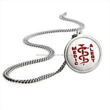 SRP0150 Top Selling Products 2015 Helix Snake Round Medical Alert Pendant