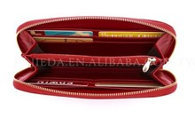 BELLUCY wine red attractive women leather clutch bag