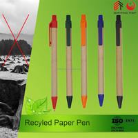 Hot sale eco recycle ballpoint pen print logo