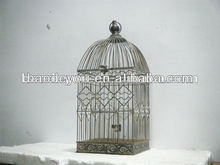 antique metal bird cage for home decoration