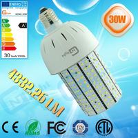 CE ROHS UL listed 30w post top light 4332Lm E27 base 360 degree led corn bulb lamp 5 years warranty