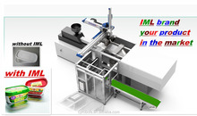robot arm IML side entry system for injection molding machine 30L Packing/ pesticides/ chemical/paint plastic bucket
