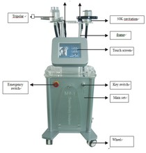 vacuum and roller for body slimming and shaping machine
