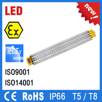IP66 atex Aluminum Alloy ex proof led tube light fittings fixtures fluorescent explosion proof led strip lighting