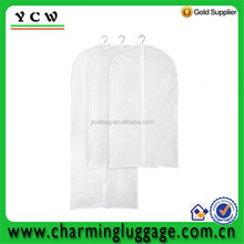White transparent dust proof suit cover bag for wholesale
