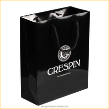 2015 new design OEM foldable shopping paper bag with logo print