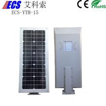 aluminum alloy metal cover led solar street light led solar garden light for decoration