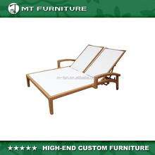 poly rattan wicker and mesh double lounge with special design outdoor furniture