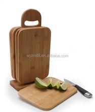 Atacado de bambu tábuas de corte queijo conjunto com o suporte pequeno almoço placa servindo