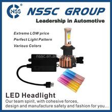 New design! PC color tube high lumen cob car led headlight h4 high low beam