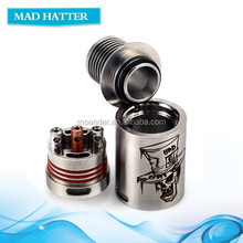 Food Grade ss Mad hatter RDA, high end Mad hatter rda atomizer from Moander