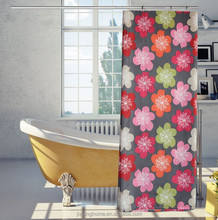 2015 Hot Sale Chinese Style Waterproof Wholesale Polyester Shower Curtain
