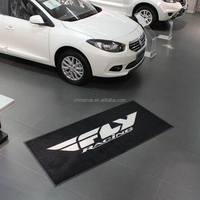 Waterproof Rubber Garage Car Logo Floor Mat For Garage Floors