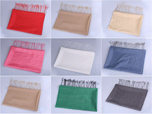 Ten Colors Available Plain Wholesale Polyester Scarf