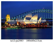 Prosperous Sydney Theater Nocturne canvas printings wall art ,frame art with led canvas