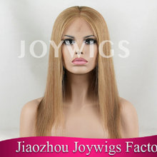 100% real virgin quality assurance long blonde human hair wig
