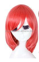 Love Live! Nishikino Maki Fashion Dark Red Medium Wavy Style Anime Cosplay Wig