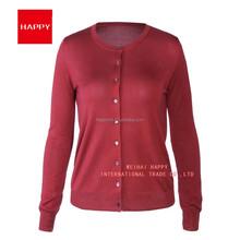 16GG 100% Spun Silk Women Cardigan Sweater