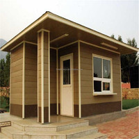 FRSTECH wpc high quality wooden cabin wood plastic composite wpc lodge water proof composite wood cabin