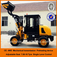0.8 ton payload 4WD Chinese small cheap wheel loader
