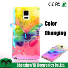 3D soft tpu color changing cell phone case for galaxy note 4
