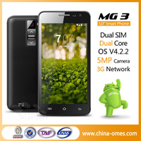 5 Inch 2Cameras Best Selling Unlocked Low Price 3G China Mobile