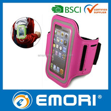 Personalized neoprene mobile phone sports armband for iPhone with Key & Earphone pocket